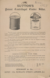 Advert for Sutton's Centrifugal Cinder Sifter